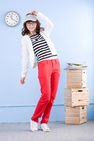 Korean Fashion Wholesale [E2-008] Stylish&Casual Colored Pants - Red- Size L