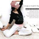 Korean Fashion Wholesale [C2-903] Sporty&Cute Drawstring Yoga/Athletic Knit Pants