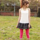 Korean Fashion Wholesale [B2-7083] Pretty Colored Pants - hot pink