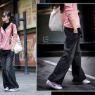 Korean Fashion Wholesale [C2-6099] Baggy Denim Jeans - Dark wash