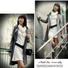 Korean Fashion Wholesale [B2-6171] Fashionista Luxurious Wool Dress - White
