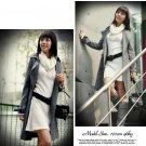 Korean Fashion Wholesale [B2-6171] Fashionista Luxurious Wool Dress - White