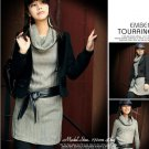 Korean Fashion Wholesale [B2-6171] Fashionista Luxurious Wool Dress - Gray