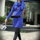 Korean Fashion Wholesale [B2-6171] Fashionista Luxurious Wool Dress - Blue