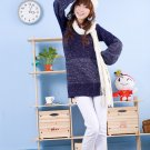 Korean Fashion Wholesale [D2-X820] Pretty Bow on back Long Sleeve Sweater- Navy