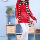Korean Fashion Wholesale [D2-X820] Pretty Bow on back Long Sleeve Sweater- Red