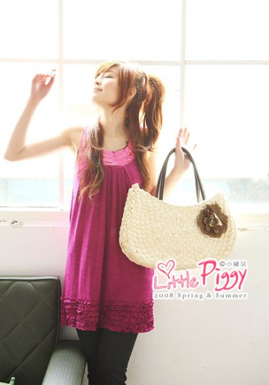 Korean Fashion Wholesale [B2-1463] Cute Sequined Little Dress - Pink
