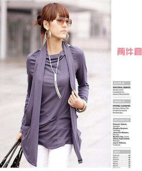 Korean Fashion Wholesale [B2-1610] Proffesional Unique Top - Purple