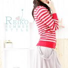 Korean Fashion Wholesale [B2-1606] Cute Striped Cardigan Top