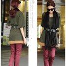 Korean Fashion Wholesale [B2-1605] Lady Attractive & Comfortable Long Top/Dress - green