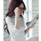 Korean Fashion Wholesale [E2-1107] Casual & Lovely Pin Striped Top - white