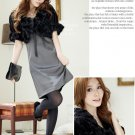 Korean Fashion Wholesale [B2-1599] Luxurious & Warm Lady Cropped Fur Jacket/Cardigan - Black