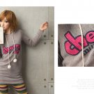 Korean Fashion Wholesale [C2-375] Cute & Playful Pom Pom Cherry Hoodie - Gray