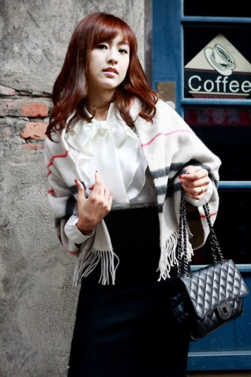 Korean Fashion Wholesale [C2-374] High-class Formal Ruffle Korean style Satin Top