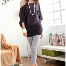 Korean Fashion Wholesale [B2-6206] Pretty & Flowy Off-shoulder Korean Style Fashion Top - purple