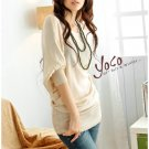 Korean Fashion Wholesale [B2-6206] Pretty & Flowy Off-shoulder Korean Style Fashion Top - peach