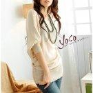 Korean Fashion Wholesale [B2-6206] Pretty & Flowy Off-shoulder Korean Style Fashion Top - peach