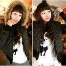 Korean Fashion Wholesale [B2-6154] Luxurious&Pretty Faux Fur Hooded Jacket -Coffee- Size M