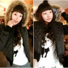 Korean Fashion Wholesale [B2-6154] Luxurious&Pretty Faux Fur Hooded Jacket -Coffee- Size S