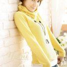 Korean Fashion Wholesale [C2-2076] Warm & Sweet Turtle-neck Sweater Top - Yellow