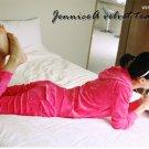 Korean Fashion Wholesale [C2-608] SUPER Adorable&Comfy Velvet 2-piece Suit - rosy pink