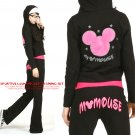 Korean Fashion Wholesale [E2-1021] DISNEY Mickey Mouse Adorable & Sporty 2-piece Suit - black