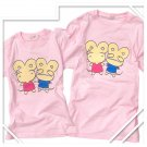 Korean Fashion Wholesale [B2-8858] Cute & Adorable Mice Couple T-shirts - Pink