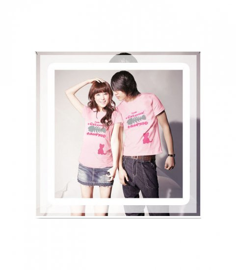 Korean Fashion Wholesale [B2-8853] Cute & Adorable Little Cat T-shirts - Pink