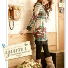 Korean Fashion Wholesale [C2-353] Cute&Colorful Vintage Flowers Print Dress - beige multi