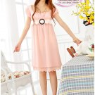 Korean Fashion Wholesale [B2-3634] Beautiful & Elegant Soft Chiffon Dress - soft pink