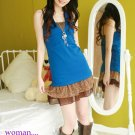 Korean Fashion Wholesale [C2-5259] Cute Tiny Flowers Chiffon Skirt - brown multi