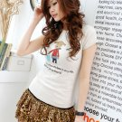 Korean Fashion Wholesale [B2-1338] Cute Little Graphic T-shirt - white