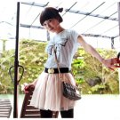 Korean Fashion Wholesale [B2-8803] Adorable & Cute Bow T-shirt - blue