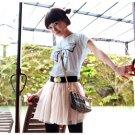 Korean Fashion Wholesale [B2-8803] Adorable & Cute Bow T-shirt - blue