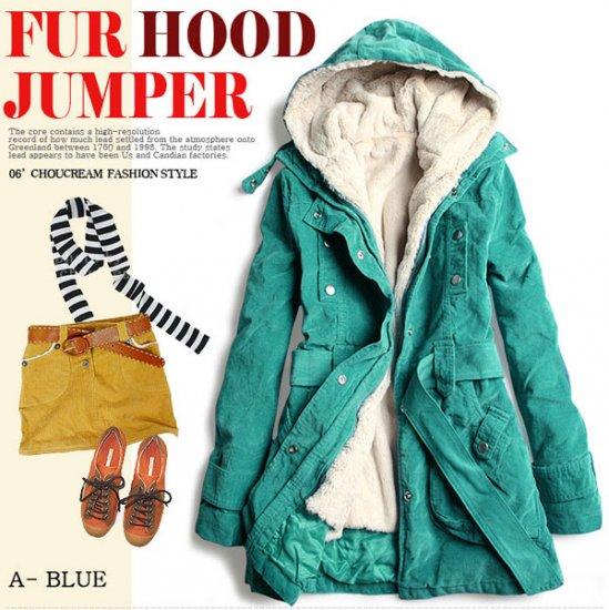 Korean Fashion Wholesale [C2-8019] Jacket - Blue - Size M