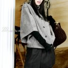 Korean Fashion Wholesale [B2-1561] Nice & Comfy Loose Button-down gray Sweater
