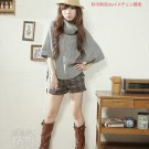 Korean Fashion Wholesale [B2-1593] Pretty & Comfy Turtleneck Warm Sweater - gray