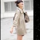 Korean Fashion Wholesale [C2-6089] Pretty & Decent Korean Windbreaker Light Coat -beige-Size L