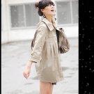 Korean Fashion Wholesale [C2-6089] Pretty & Decent Korean Windbreaker Light Coat -beige-Size L