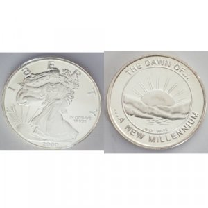 2000 Millennium Liberty Proof Coin .999 Slver