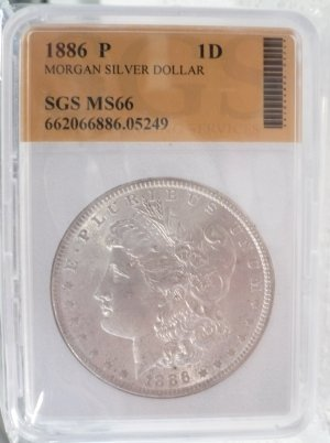 1886 Morgan Dollar Uncirculated