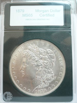 Slabbed 1879 Morgan Dollar Uncirculated MS65