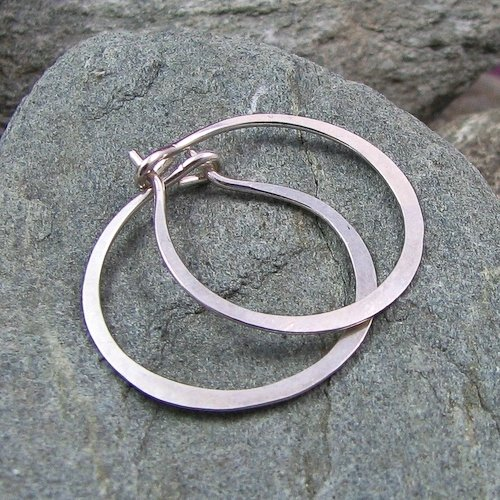 1 Inch Forged Sterling Hoops
