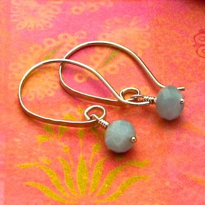 Ice Grey Quartz Sterling Silver Modern Half-Hoop Earrings
