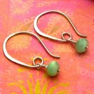 Green Quartz Sterling Silver Modern Half-Hoop Earrings