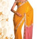 Designer Georgette Saree with Diamond motif print
