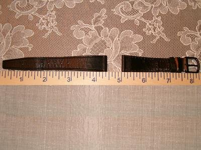 NEW Black Leather Unisex Wrist Watch Band Strap