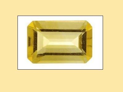 Citrine Emerald-Octagon-Radiant Cut 14x10mm with Medeira Stripe