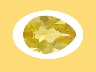 Set of 2 Citrine 12x8mm Pear Cut Loose Gemstones