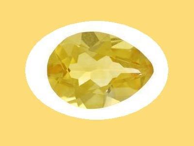 Set of 2 Citrine 12x8mm Pear Cut Loose Gemstones
